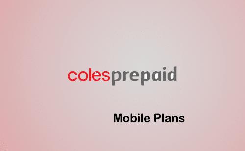 coles mobile prepaid phone plans