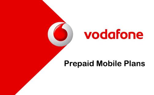 vodafone prepaid mobile phone plans