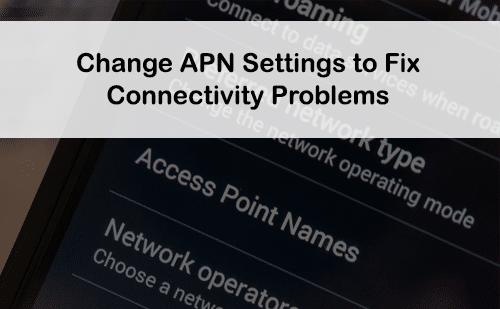 fix apn settings